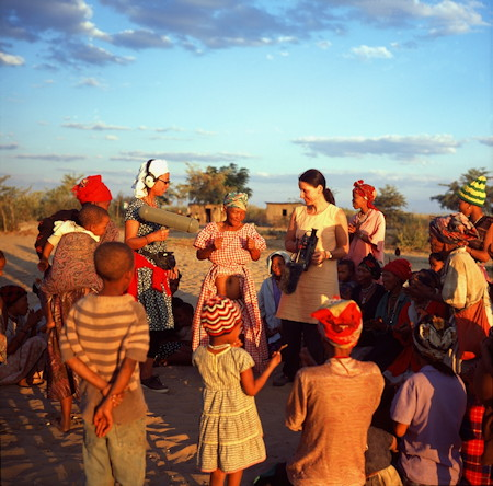Michelle Mahrer Nicole Ma with san women Namibia from Dances of Ecstasy